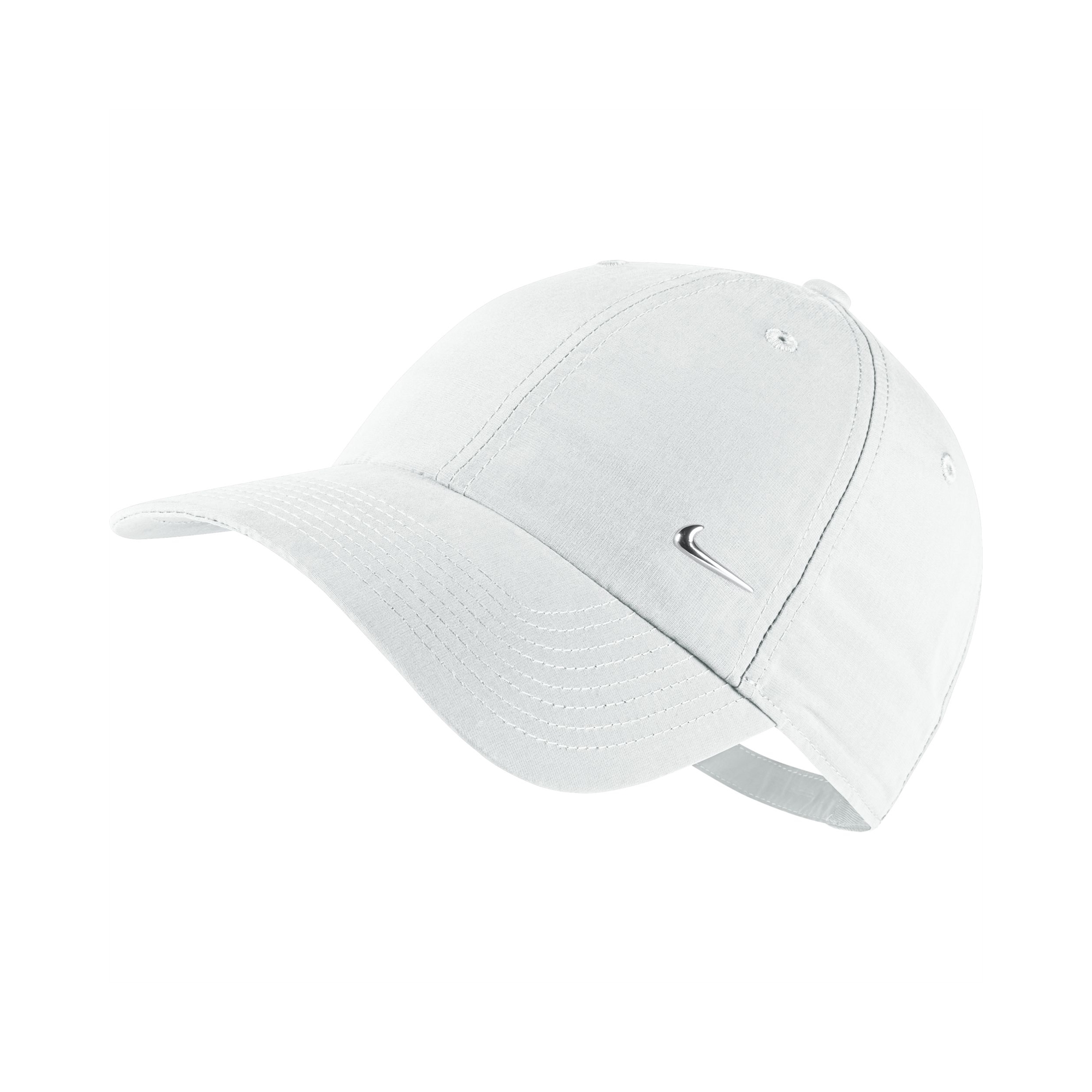 nike swoosh logo sport cap white