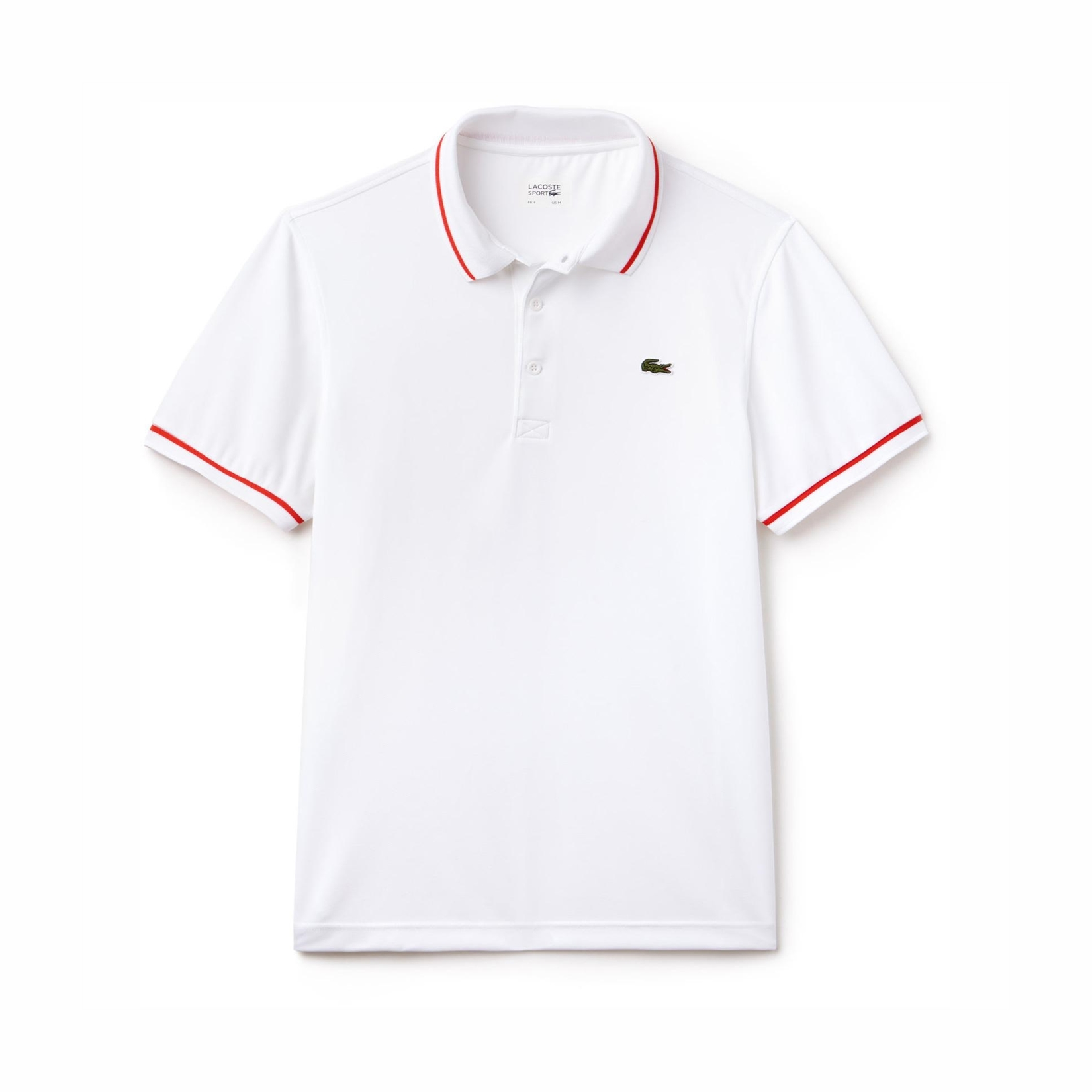 Lacoste Ultra Dry Tipped Polo White/Red M