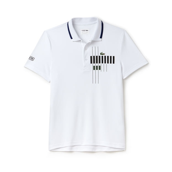 Lacoste Polo Novak Djokovic - Exclusive Edition White/Ocean Black M