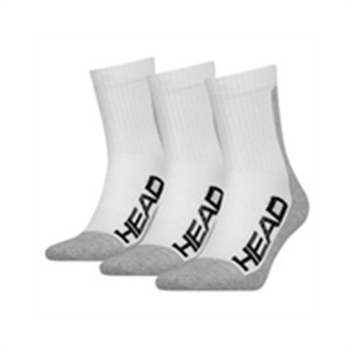Head Performance Crew White 3-pack
