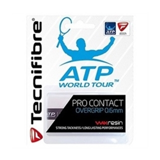 Tecnifibre Pro Contact Overgrip White 3-pack