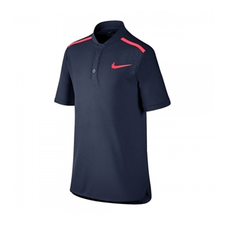 Nike Performance Polo Boy Navy Blue/Pink Size 128