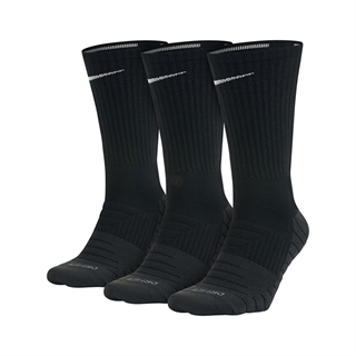 Nike Dry Cushion Crew Black 3-pack