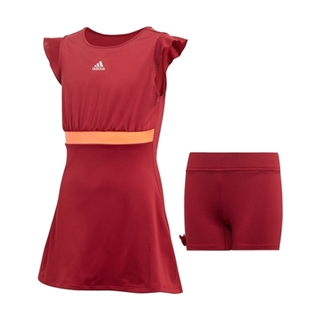 Adidas Ribbon Dress Girls Burgundy