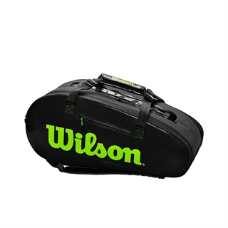Wilson Super Tour 2 Large Comp Charcoal/Green