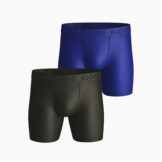 Björn Borg Performance Shorts Black/Blue 2-Pack