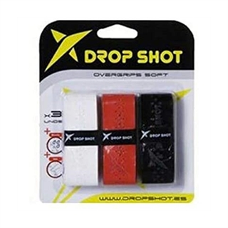 Drop Shot Overgrip White/Red/Black 3-pack